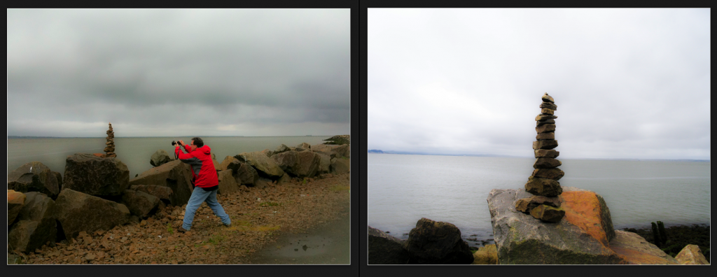 Two views of the Columbia River