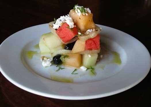 color photo of melon salad