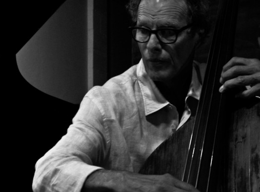 black and white photo of bassist glen moore