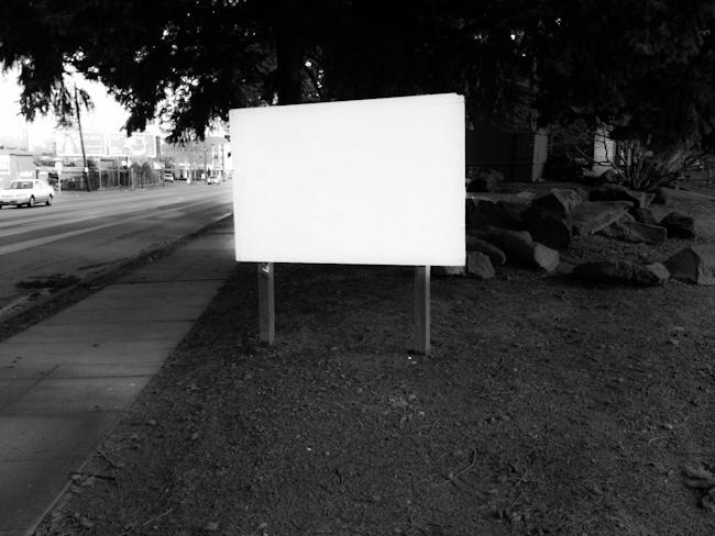 blank billboard on sandy blvd.